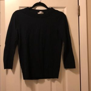 Club Monaco 3/4 sleeve navy sweater size s